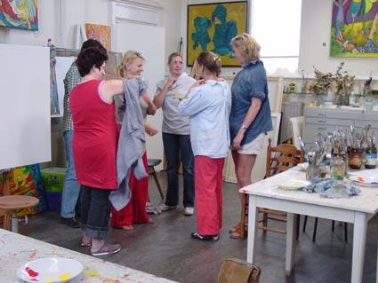 Kunstkado schilderworkshops voor groepen kinderen en of volwassenen in een atelier - Kleur schilderij slaapkamer volwassenen ...